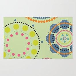 Colorful circles pattern Rug