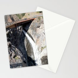 Bear Creek Falls in Uncompahgre Gorge - Vertical Panorama No. 1 of 2 Stationery Cards