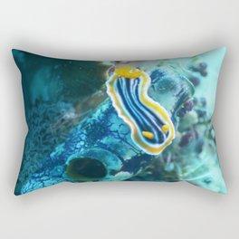 Yellow and blue striped chromodoris nudi Rectangular Pillow