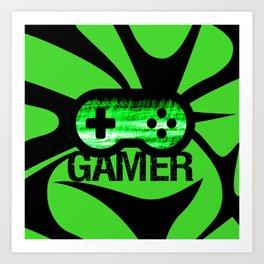 Gamer Green V2 Art Print
