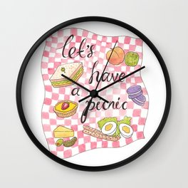 Let's Have A Picnic Wall Clock