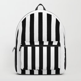 Abstract Black and White Vertical Stripe Lines 15 Backpack