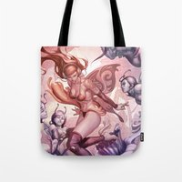 fairies Tote Bags featuring Pepper Fairies by Artgerm™