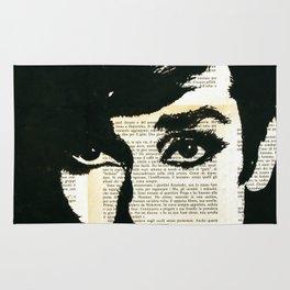 Audey Hepburn portrait Rug