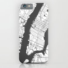 New York City White on Gray Street Map Slim Case iPhone 6s