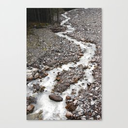 The birth of Nisqually river Canvas Print