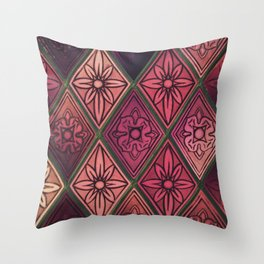 Purple Window Throw Pillow