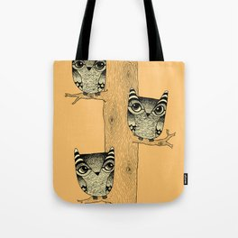 Owls (orange) Tote Bag