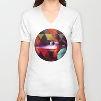 planet V-neck T-shirts featuring Planet by Tony Vazquez