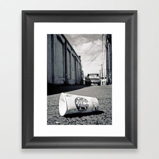 Starbucks dream Framed Art Print