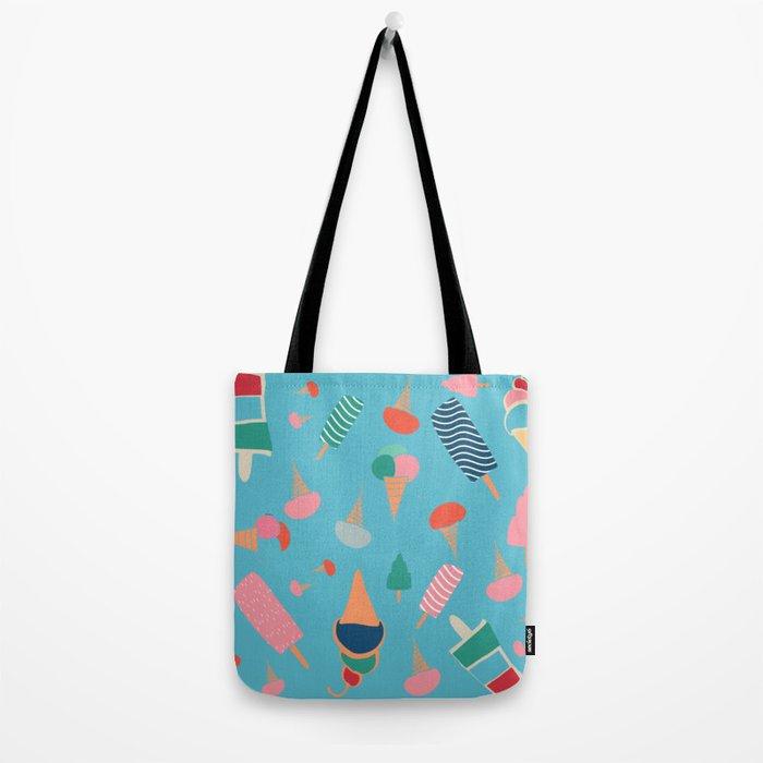 Ice Cream Blue Tote Bag