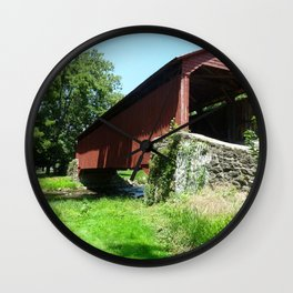 A Bridge in the Country Wall Clock