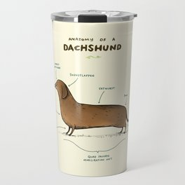 Anatomy of a Dachshund Travel Mug
