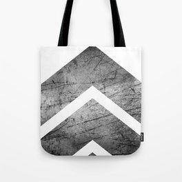 Grey And White Modern Geometric Grunge Chevrons Tote Bag