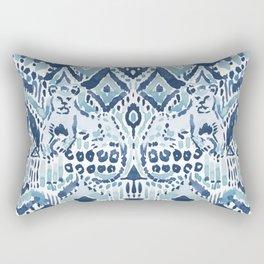 PRIDE INSIDE Lion Tribal Indigo Aqua Rectangular Pillow