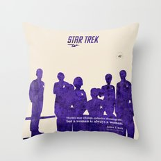 Star Trek 46th Anniversary - James T. Kirk quote Throw Pillow