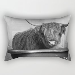 Highland Cow in the Tub Rectangular Pillow