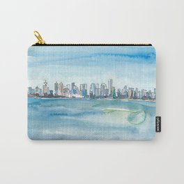 Vancouver British Columbia Canada Skyline and Blue Sky Carry-All Pouch