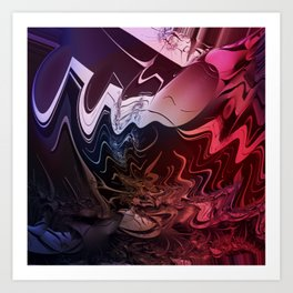Anger management - An abstract mood illustration Art Print
