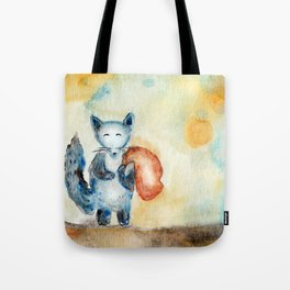Journey Of A Blue Fox Tote Bag
