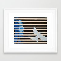 mockingjay Framed Art Prints featuring Mockingjay by Claudia Valenti