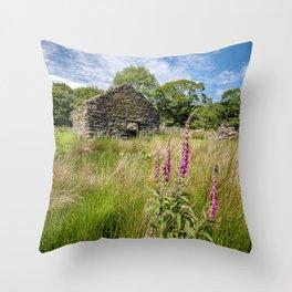 Foxglove Ruin Throw Pillow