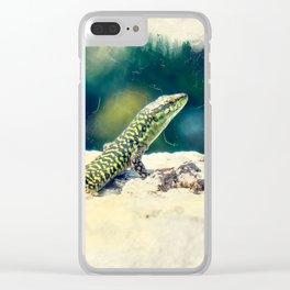 Erice art 11 Podarcis sicula Clear iPhone Case