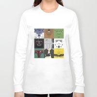starwars Long Sleeve T-shirts featuring Starwars combo by Alex Patterson AKA frigopie76