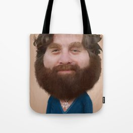 Zack Galifianakis Caricature Tote Bag