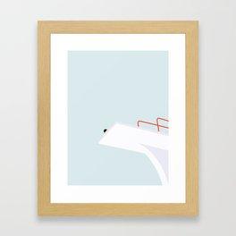 HØJDESKRÆK Framed Art Print