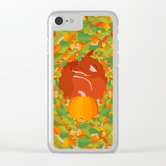 Mellow Autumn Clear iPhone Case