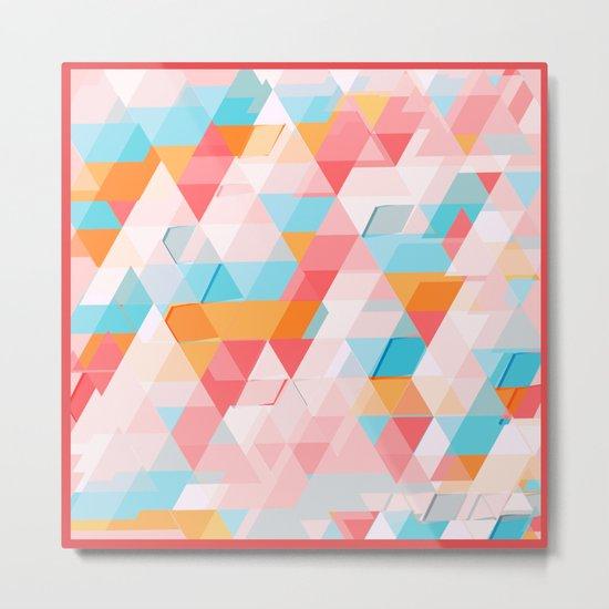 Crumbling triangles Metal Print