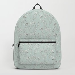 Snow Gypsophila - Seamless Pattern Backpack