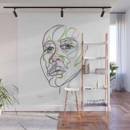 Green Eyes Wall Mural