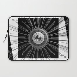 Mono Tock - Sunburst clock Laptop Sleeve