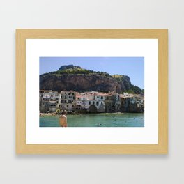 Cefalù Beach Framed Art Print