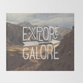 EXPLORE GALORE Throw Blanket