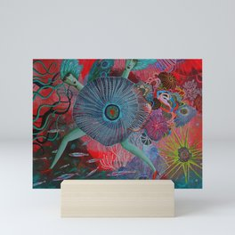 Coral Sisters Mini Art Print