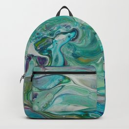 River Eddy - Abstract Acrylic Art by Fluid Nature Backpack