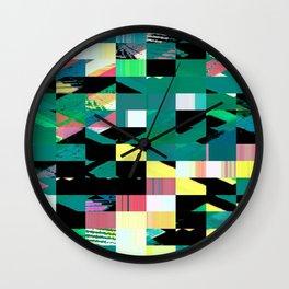 Pixel Dust Green  Wall Clock