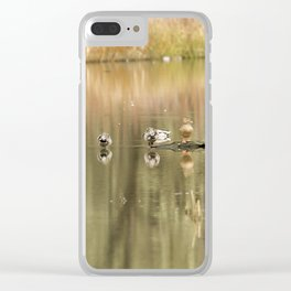 Duck Reflections Clear iPhone Case