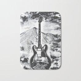 Guitar Art, Gibson ES-335, Rock & Roll Decor, Music Artwork Bath Mat