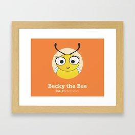 Becky the Bee Framed Art Print
