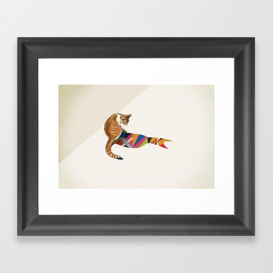 Walking Shadow, Cat 2 Framed Art Print