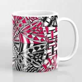 Red and Black Zendala Coffee Mug