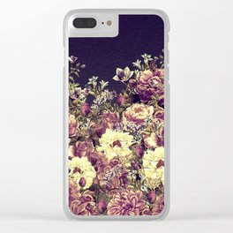 Vintage Garden 6 (Roses & Lavenders) Clear iPhone Case