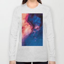 red purple and blue painting texture abstract background Long Sleeve T-shirt
