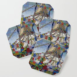 NEPALI PRAYERS CARRIED BY THE WIND FROM FLAGS Coaster