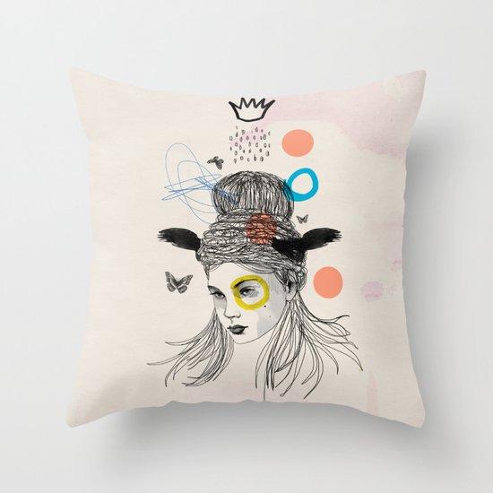 Fool in the Rain Throw Pillow