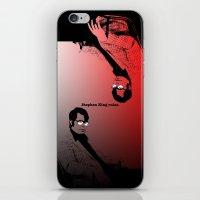 stephen king iPhone & iPod Skins featuring Stephen King Rules by Hazel Bellhop